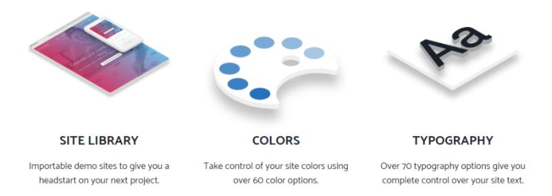 GeneratePress Premium Module Site Library, Colors und Typography