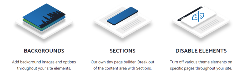 GeneratePress Premium Module Backgrounds, Sections und Disable Elements