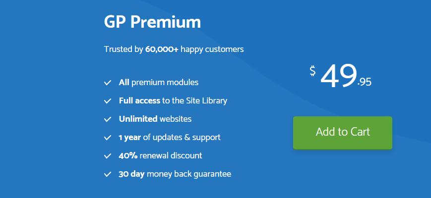 GeneratePress Premium Preise