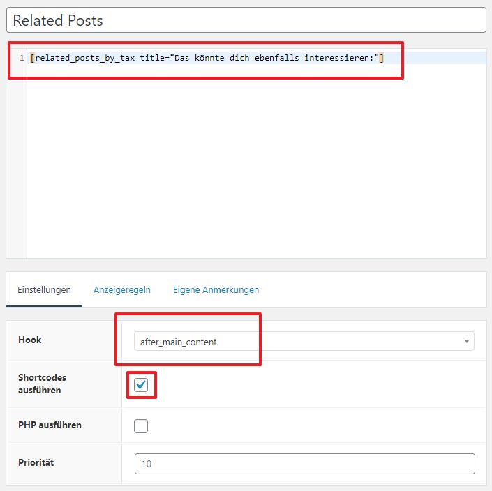 Related Posts Hook erstellen