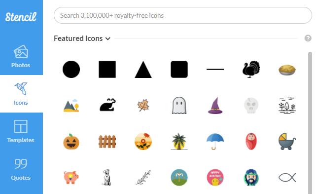 Stencil Icons