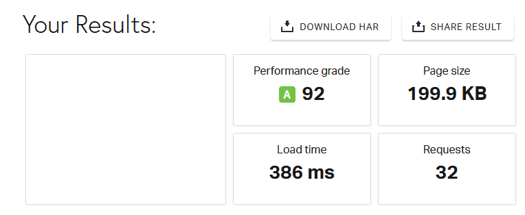 Pingdom Website Speed Test mit WP Rocket Cache